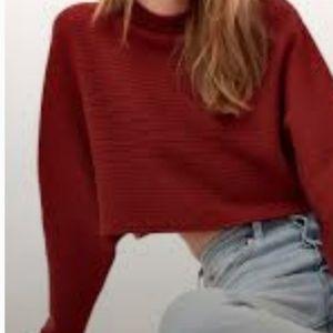 Aritzia Wilfred Free Lolan Merino wool cropped sweater